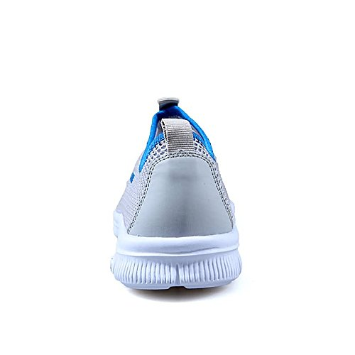 and Mesh Shoes Sneaker Light Gray for Easy Heel up Women Flat Fashion Cricket Shopping Men Fabric Go qxxTwE6P