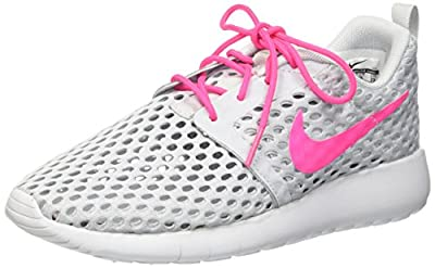 Nike Roshe one Flight Weight (GS) Trainers 705486 Sneakers Shoes (US 4 Big Kid, Pure Platinum Pink Blast 006)