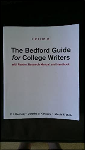 The Bedford Guide For College Writers 9th Edition Pdf