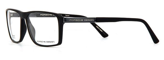 7ef7ba5454b6 Amazon.com  Porsche Design P8259 A Unisex Black Grey Frame Eyeglasses Size  57-15  Clothing