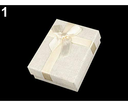 - 1pc 1 Ecru Light Paper Gift Box 7x9 cm for Jewellery, Boxes, Bags, Decorations