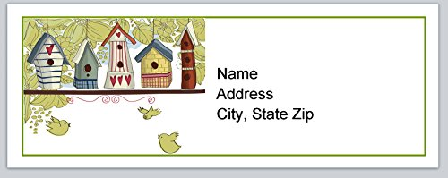 (120 Personalized Address labels Primitive country Birdhouses (P 151))