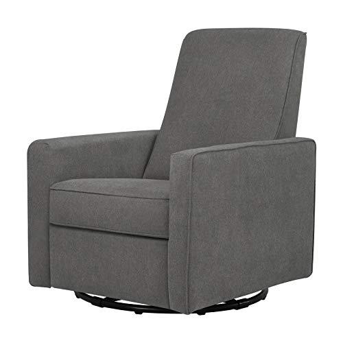 (DaVinci Piper All-Purpose Upholstered Recliner and Swivel Glider, Dark Grey)