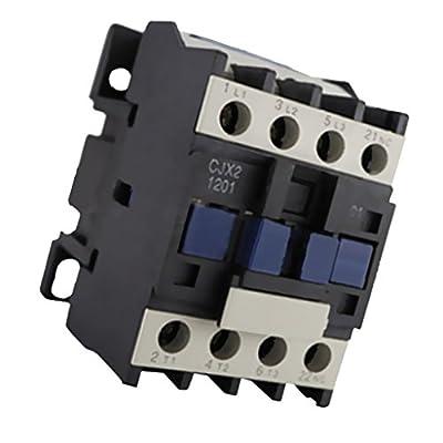 Fenteer Durable CJX2-1201 24-380V AC Coil 3-Phase 50/60Hz Motor Starter Relay Contactor