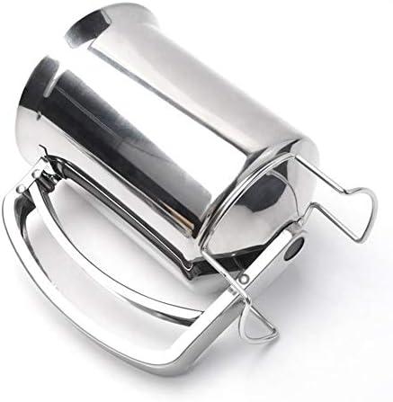 Teigportionierer Edelstahl Fontanttrichter Edelstahl Waffel Batter Dispenser Pancake Maker Kochen Werkzeuge für Home Küche Bäckerei Fassungsvermögen: 900 ml