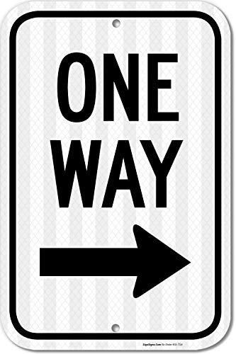 One Way Sign 12x18 3M Reflective (EGP) ()