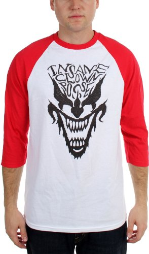 Insane Clown Posse - Mens Face Raglan Raglan, Small, White/Red