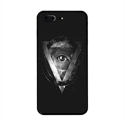Amulet Customized for iPhone 7 Plus/iPhone 8 Plus Case - Black Hard Plastic (5.5 inch)
