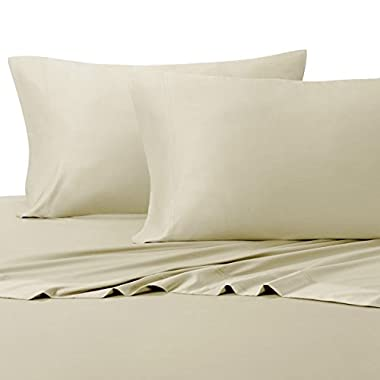 Silky Soft Bamboo Cotton Sheet Set, 100% Bamboo-Cotton Bed Sheets, Queen Size, Sand