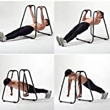 Dip Bar Fitness Station | Heavy Duty Dip Stand Bars Strength Power Training Stand W/Slings Loops,Body Press Bar for Home Gym Workout 2 Dip Bars