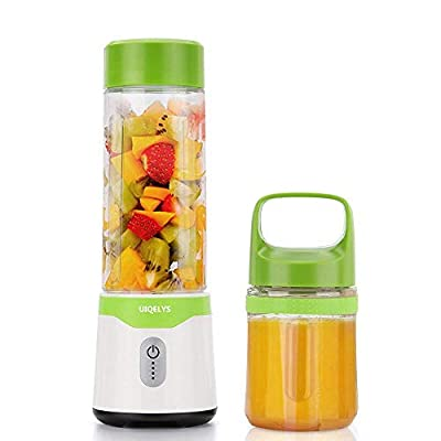 Portable Blender Juicer, Personal High Speed Smoothie Blender USB Rechargeable Fruit Mixing Machine for Shakes and Smoothies, nut, Juice, Baby Food, With 2 FDA Approved Cups(17oz and 12oz) …