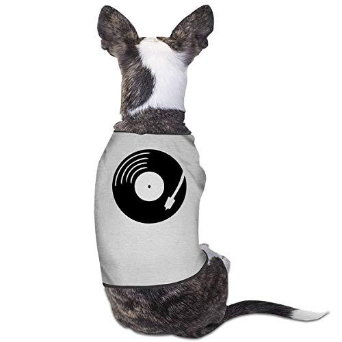 LNUO-2 Pet T-Shirt, Vinyl Record Dog Cat Clothes