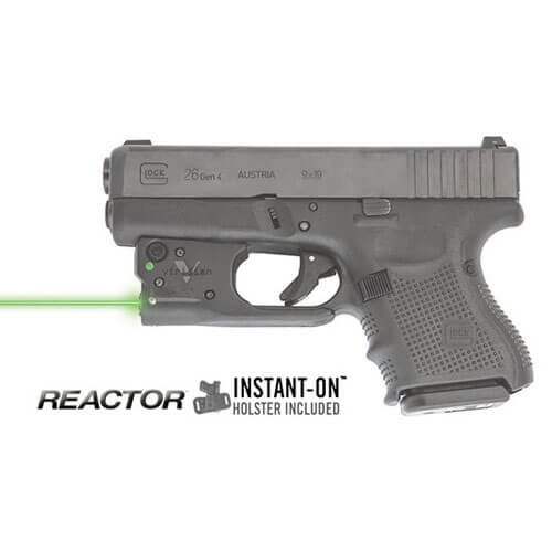 Viridian Reactor 5 Green Laser Sight Pistol Handgun, ECR Instant on (27 Shot Magazine)