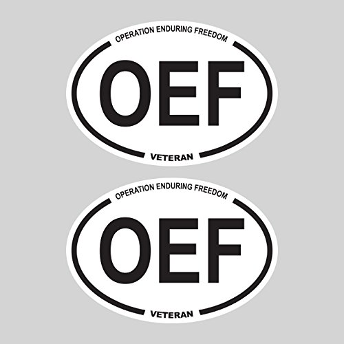 Two Pack Operation Enduring Freedom OEF Oval Stickers FA Graphix Vinyl - Veteran Afghanistan Sticker