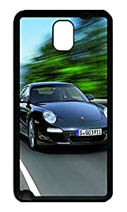 Note 3 Case, Galaxy Note 3 Case, [Perfect Fit] Soft TPU Crystal Clear [Scratch Resistant] 2011 Black Porsche 911 Black Edition Cute Back Case Cover for Samsung Galaxy Note 3 N9000 Cases