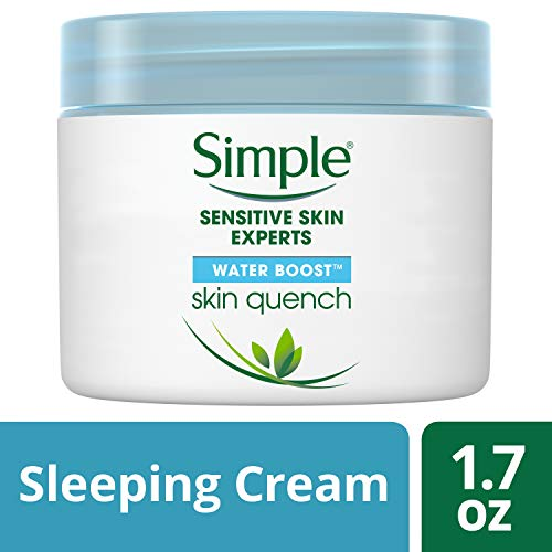 Simple Water Boost Skin Quench, Sleeping Cream, 1.7 oz