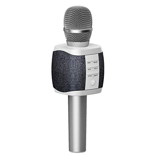 TOSING XR Wireless Bluetooth Karaoke Microphone,3-in-1 Portable Handheld karaoke Mic New Year Gift Home Party Birthday Speaker Machine for iPhone/Android/iPad/Sony, PC and All Smartphone (Dark gray)