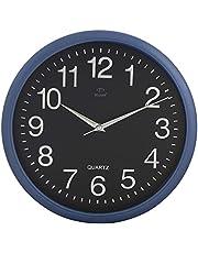 ساعة حائط بلاستيكية من دوجانا DW3001 اللون بلو بلاك