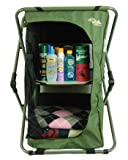 Wilcor Camping Pop-Up Storage Cupboard Table with Carry Bag - Foldable Collapsible Design