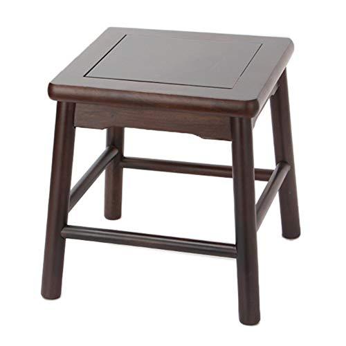 (Solid Wood Stool Household Coffee Table Stool Living Room Sofa Stool Creative Change Shoe Bench GAOFENG (Color : C-Ebony-Large))
