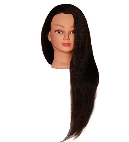 HairZtar 100% Human Hair 26-28 (Super Long) Mannequin Head Hairdresser Training Head Manikin Cosmetology Doll Head (Karen)