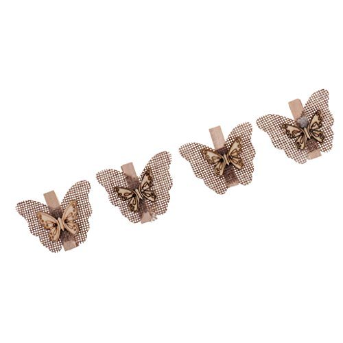 - Jili Online 4pcs Country Butterfly Wooden Pegs Wood Clips Rope Cloth Photo Paper Pins Embellishments