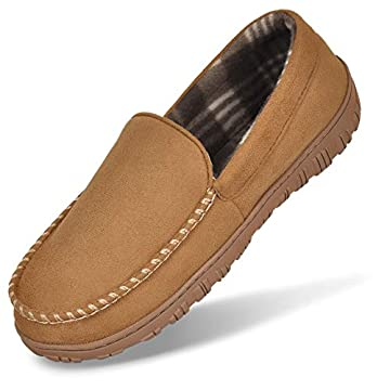 Mens-Cozy-Moccasin-Slippers-Anti-Skid-Slip-On-House-Slippers-with-Memory-Foam