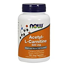Acetyl-L Carnitine by NOW - 100 capsules, 500 mg