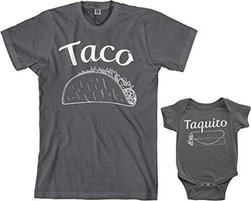 34f7a0d44c Threadrock Taco   Taquito Infant Bodysuit   Men s T-Shirt Matching Set  (Baby