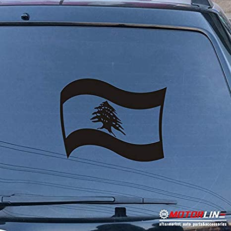 Cedar Of Lebanon National flag of Lebanon Car Decal Sticker