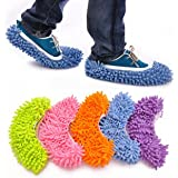 歩くだけで 簡単 お掃除 モップスリッパ  マイクロファイバー 2足 セット 3足 セット 5足 セット (緑、ピンク、オレンジ、青、紫の5足セット)