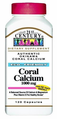 21st Century Coral Capsules mg de calcium 1000, 120-Count