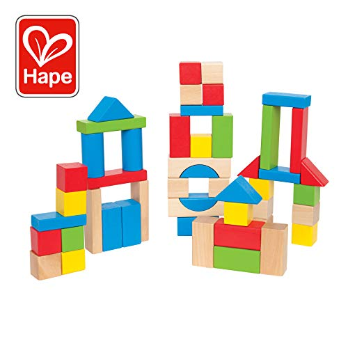 Hape Maple Wooden Block Set (50 Pieces) - Maple Blocks Set