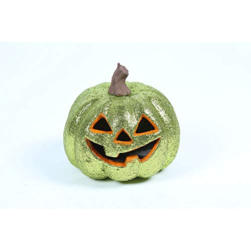 Hemore Colorful Pumpkin Lantern Bucket for Children as Halloween Decoration or Gifts (Green) 1PCS