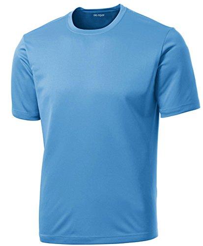 (Dri-Equip Youth Athletic All Sport Training Tee Shirt,XL-Carolina)