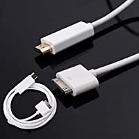 DigitCont 30-Pin Dock Connector to HDMI 3M Cable Convertor for Apple iPhone 4/4s, iPad 2/3 and iPod Touch