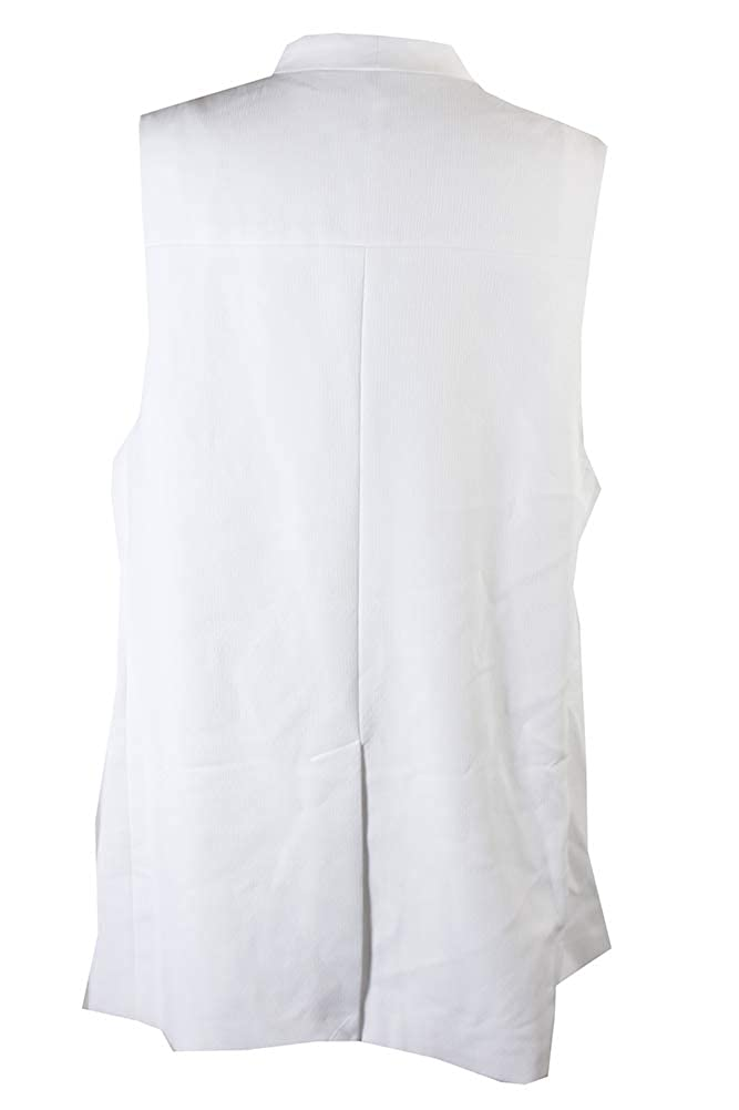 5401cebafd7cba Amazon.com: Alfani Plus Size Crepe Vest Womens Size 16W Bright White:  Clothing