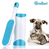 Brellavi Pet Hair Remover Brush with Self-Cleaning Base, Double-Sided Pet Hair Remover Brush for Removing Pet Hair from Couch, Carpet, Best Pet Hair Remover Brush for 2019