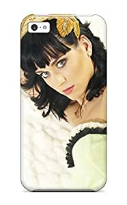 High Quality Shock Absorbing Case For Iphone 5c-katy Perry Lime Green Dress Yellow Brunette Laying People Women