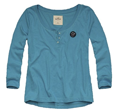 hollister-womens-henley-t-shirt-easy-fit-small-aqua