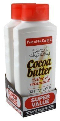 Fruit of Earth Bogo Lotion Cocoa Butter With Aloe & Vitamin-E 11 oz. (Twin Pack)