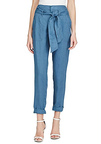 (Lauren by Ralph Lauren Linen High-Rise Pants (Dark Slate Blue, 0))