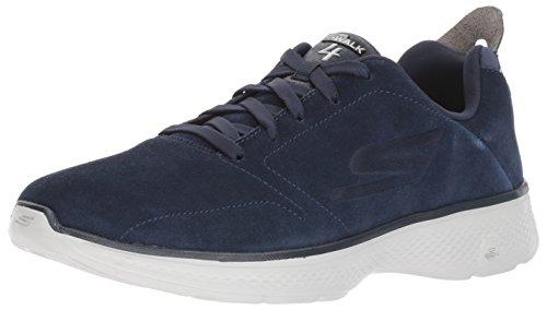 Les Hommes Skechers Vont Marcher 4 Chaussures De Course, Noir (noir) Bleu (bleu Marine / Gris)