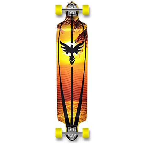 Professinal Speed Drop Down Complete Longboard Skateboard (Sunset) ()