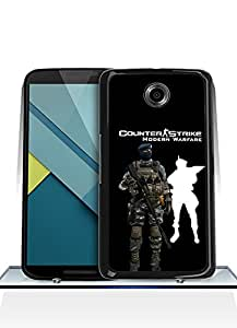 Google Nexus 6 Funda Case Game Counter-Strike High Impact Solid Protection Drop Proof Unique Pattern Funda Case Cover