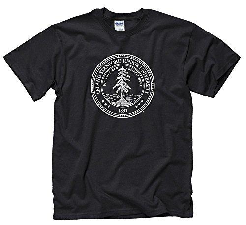 (Shop College Wear Stanford University Seal Men's T-Shirt - Black)