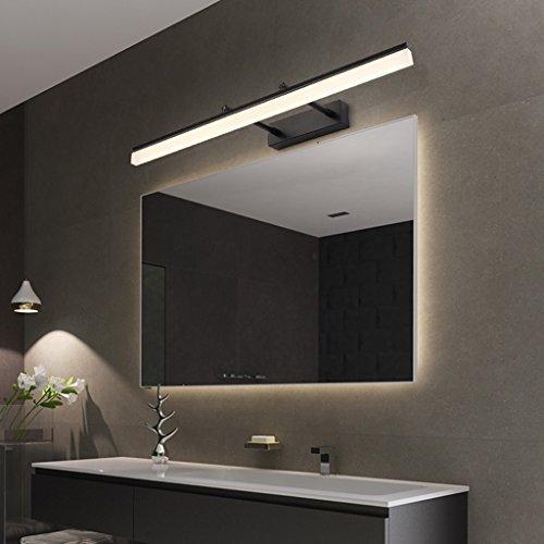Fu Man Li Accesorios de iluminación Ajustables de la vanidad del baño del LED Sombra Larga Mate Negro Acero Inoxidable...