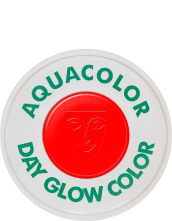 Kryolan 5172 AQUACOLOR UV-DAYGLOW 30 ML (Red)