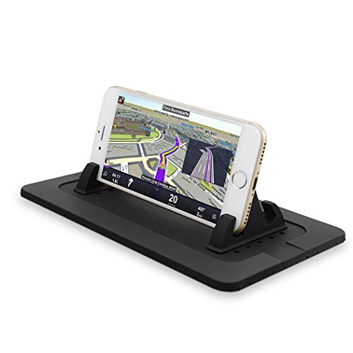 (Car Phone Holder, Car Phone Mount Silicone Phone Car Dashboard Car Pad Mat for Various Dashboards, Anti-Slip Desk Phone Stand Compatible with iPhone, Samsung, Pmq4)