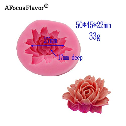 1 piece 1 Pc 3D Rose Flower Silicone Mold For Fudge Cake Decorating Chocolate Cookies Soap Clay Resins Kitchen Baking Tools Stencil ()